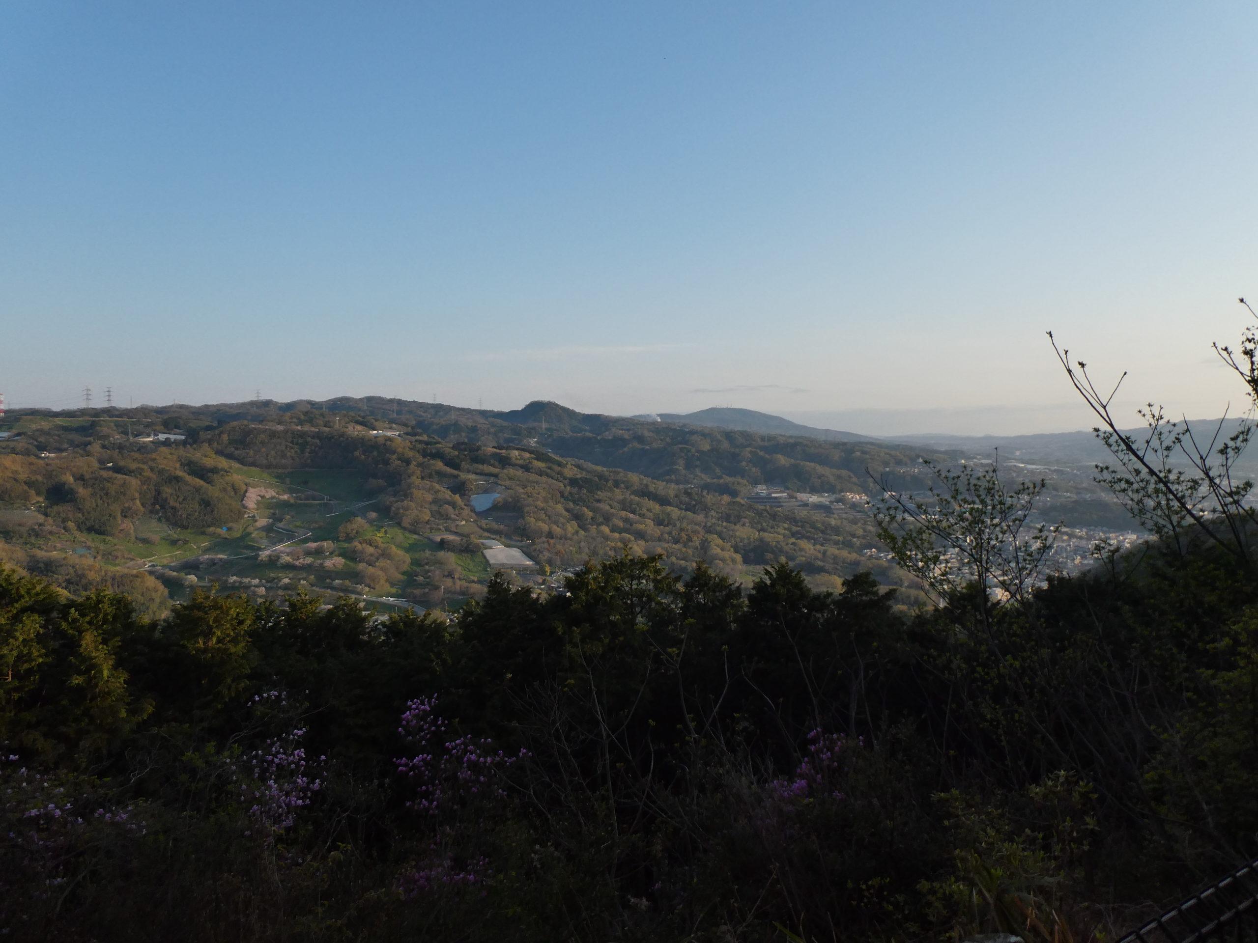 明神山 ハイキングコース 亀の瀬 眺望