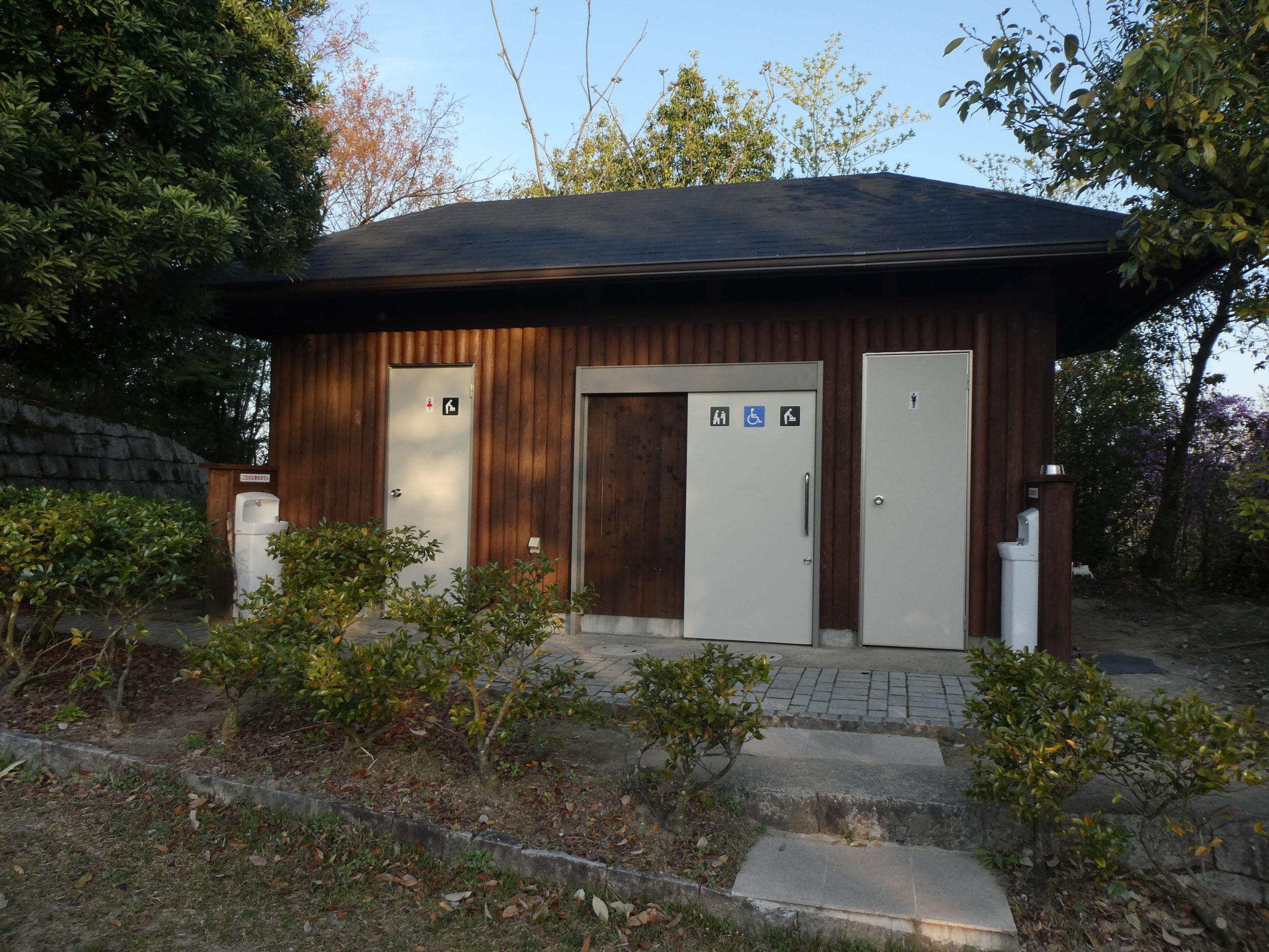 明神山 ハイキングコース 展望台 トイレ