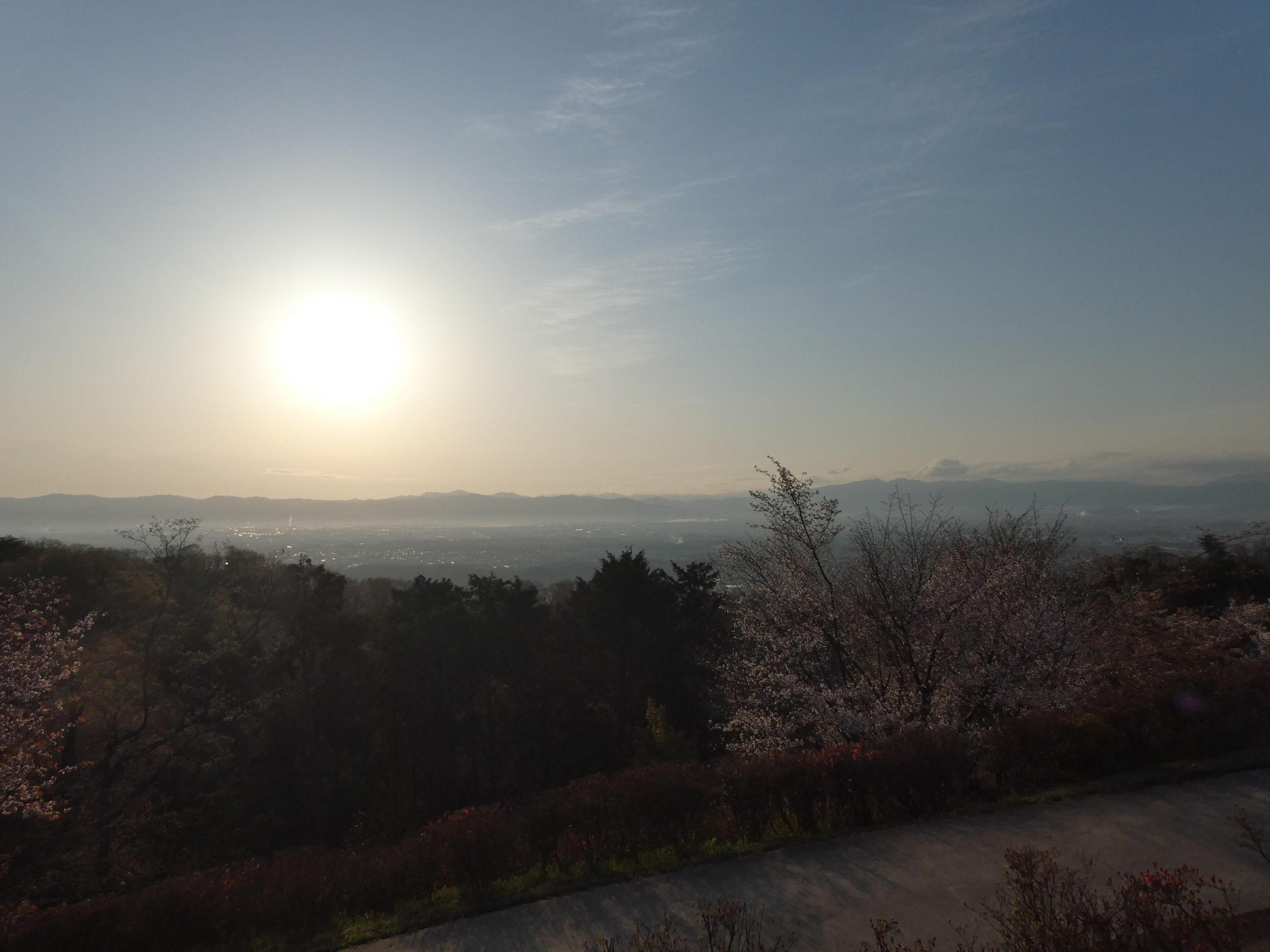 明神山 ハイキングコース 展望台 眺望(東側)
