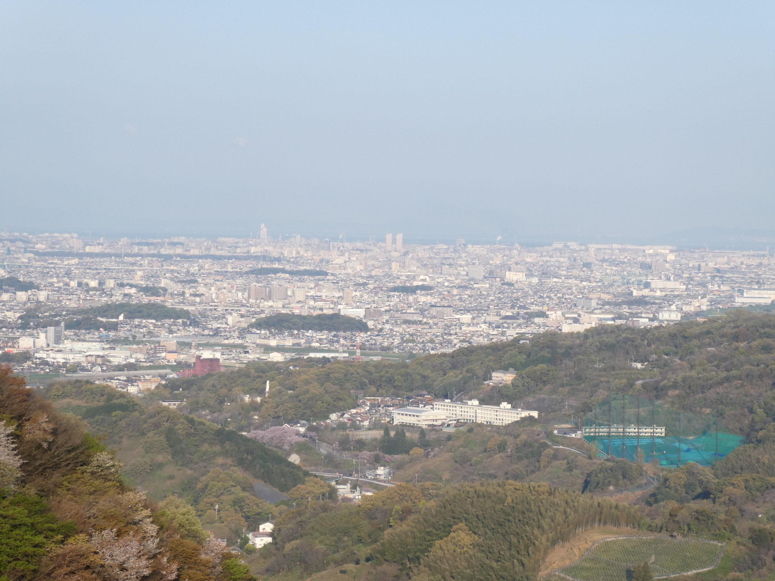 明神山 ハイキングコース 展望台 眺望(西側)